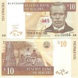 Malawi 2004 10 Kwacha P51a UNC