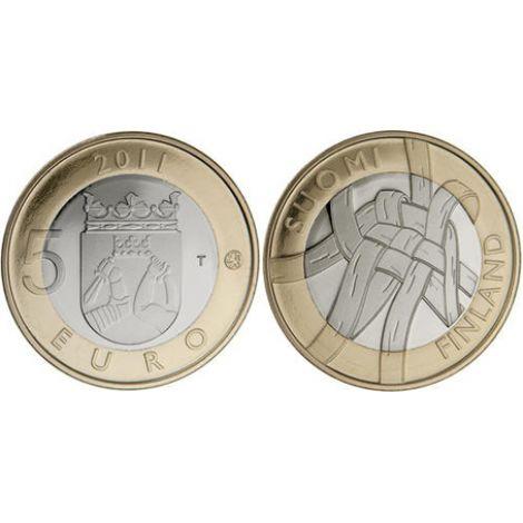 Suomi 2011 5 € Karjala maakuntaraha UNC