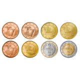 Kypros 2009 1 c – 2 € Irtokolikot UNC