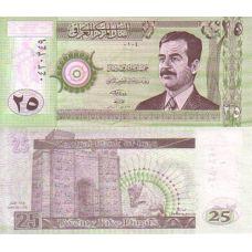 Irak 2001 25 Dinars P86 UNC
