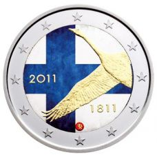 Suomi 2011 2 € Suomen Pankki 200v VÄRITETTY