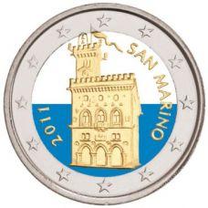 San Marino 2011 2 € VÄRITETTY