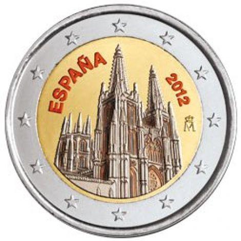 Espanja 2012 2 € Burgos VÄRITETTY