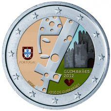 Portugali 2012 2 € Guimaraes VÄRITETTY