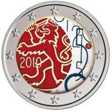 Suomi 2010 2 € Suomalainen raha 150v VÄRITETTY