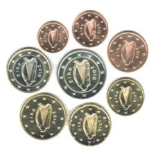 Irlanti 2010 1 c – 2 € Irtokolikot UNC