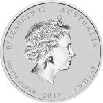 Australia 2013 1 Dollar Year of the snake 1 Unssi HOPEA VÄRITETTY