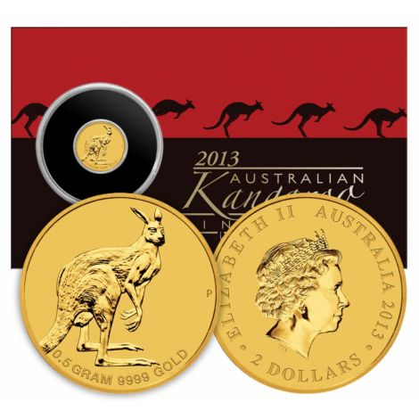 Australia 2013 2 Dollars Mini Kenguru KULTA