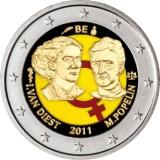 Belgia 2011 2 € Kansainvälinen naistenpäivä 100 vuotta VÄRITETTY