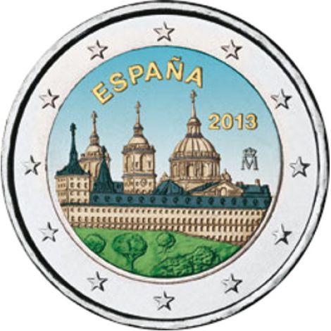 Espanja 2013 2 € El Escorial VÄRITETTY