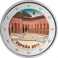 Espanja 2011 2 € Alhambra VÄRITETTY
