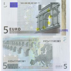 Euroopan Unioni 2002 5 € E008 / P UNC