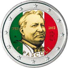 Italia 2012 2 € Giovanni Pascoli VÄRITETTY