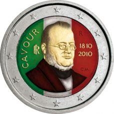 Italia 2010 2 € Cavour VÄRITETTY