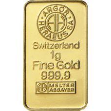 Kultalaatta 1 gramma 9999 KULTA