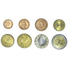 Luxemburg 2004 1 c – 2 € Irtokolikot UNC