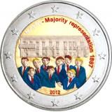 Malta 2012 2 € Majority Representation 1887 VÄRITETTY