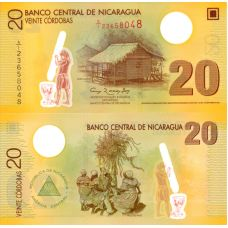 Nicaragua 2007 20 Cordobas P202-2 UNC