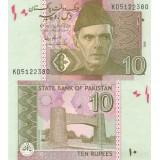 Pakistan 2009 10 Rupees UNC