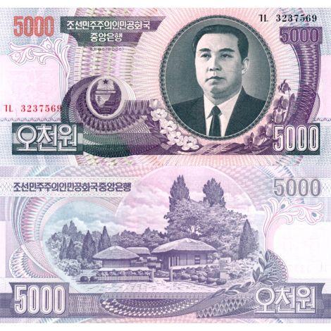 Pohjois-Korea 2006 5 000 Won P46 UNC
