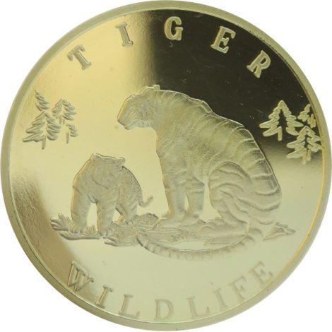 Pohjois-Korea 2007 20 Won Wildlife Tiger PROOF