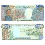 Ruanda 1988 5 000 Francs P22 UNC