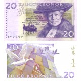 Ruotsi 2008 20 Kronor P63 UNC