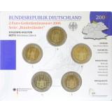 Saksa 2006 2 € Holstentor ADFGJ BU