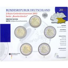 Saksa 2012 2 € Bayern ADFGJ BU