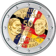 Saksa 2013 2 € Élysée-sopimus 50 vuotta VÄRITETTY
