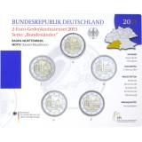 Saksa 2013 2 € Maulbronnin luostari ADFGJ BU