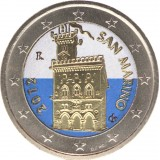 San Marino 2012 2 € VÄRITETTY