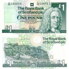 Skotlanti 2001 1 Pound P351e UNC