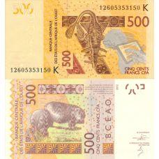 Senegal 2012 500 frangia UNC
