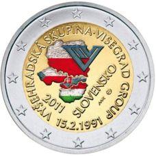 Slovakia 2011 2 € Visegrad VÄRITETTY