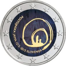 Slovenia 2013 2 € Postojnan luola VÄRITETTY