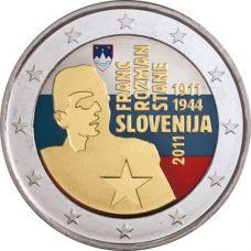 Slovenia 2011 2 € Franc Rozman VÄRITETTY
