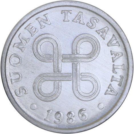 Suomi 1986 5 Penniä UNC