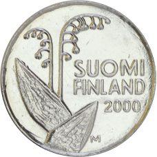 Suomi 2000 10 Penniä UNC