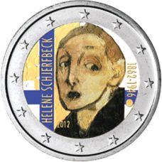 Suomi 2012 2 € Helene Schjerfbeck VÄRITETTY