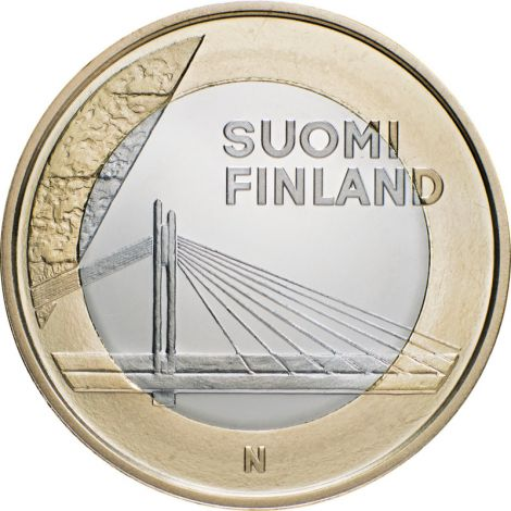 Suomi 2012 5 € Maakuntien rakennukset Lappi - Jätkänkynttiläsilta UNC