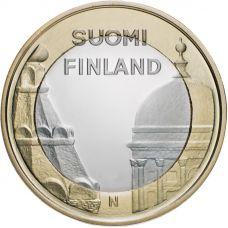 Suomi 2012 5 € Maakuntien rakennukset Uusimaa UNC