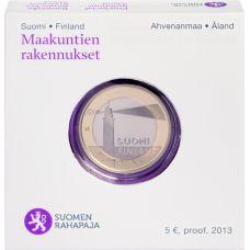 Suomi 2013 5 € Maakuntien rakennukset Ahvenanmaa - Sälskärin majakka PROOF