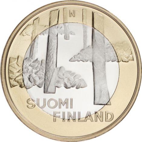 Suomi 2013 5 € Maakuntien rakennukset Satakunta - Sammallahdenmäki UNC