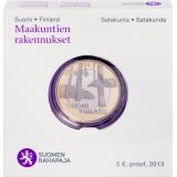 Suomi 2013 5 € Maakuntien rakennukset Satakunta - Sammallahdenmäki PROOF