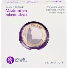 Suomi 2013 5 € Maakuntien rakennukset Varsinais-Suomi - Turun tuomiokirkko PROOF