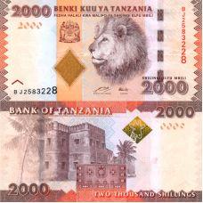 Tansania 2010 2000 Shillings P42 UNC