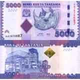 Tansania 2010 5000 Shillings P43 UNC