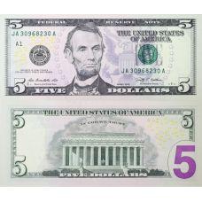 Yhdysvallat 2009 $5 UNC