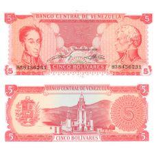 Venezuela 1989 5 Bolivares P70a UNC